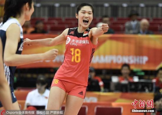 中国女排在世锦赛上扬眉吐气。图片来源:Osports全体育图片社