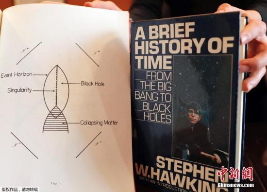 当地时间10月19日,英国伦敦,英国佳士得拍卖行宣布将拍卖著名物理学家斯蒂芬-霍金的22件遗物,其中包括霍金论述宇宙起源的博士论文、一些文档资料、部分书籍和文稿,以及一件飞行员夹克等。这22件伟人遗物将分两次于10月31日及11月8日在线上拍卖。