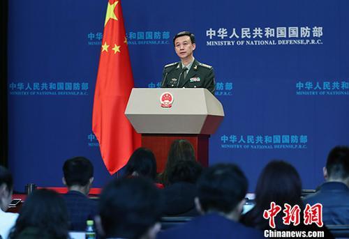 资料图:国防部新闻发言人吴谦。中新社记者 宋吉河 摄