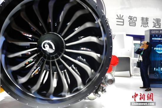 资料图:飞机发动机。中新社记者 富田 摄