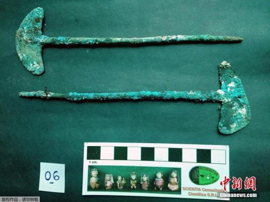 当地时间11月8日,玻利维亚文化部公开了早在新出土文物的照片。