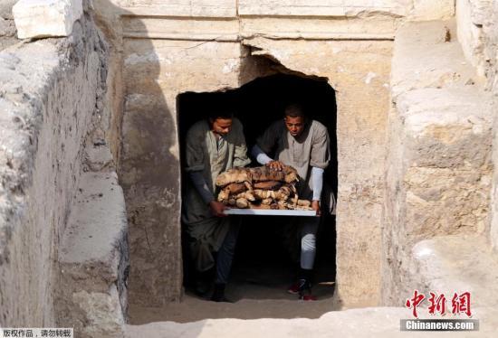 考古工作者Khufu-Imhat墓继续发掘。