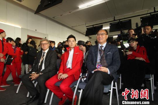 图为林志颖出席赛后新闻发布会。张道正 摄