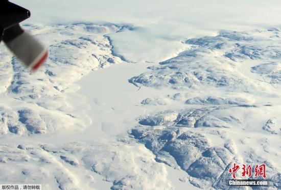 资料图:格陵兰岛冰川。