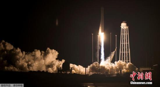 资料图:美国Antares火箭载天鹅座补给飞船发射升空,向国际空间站补给超3吨货运物资。