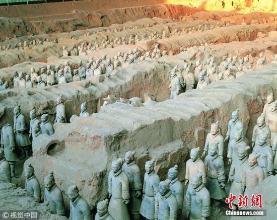 资料图:陕西西安秦始皇兵马俑博物馆。图片来源:视觉中国