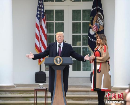 资料图:美国总统特朗普。 记者 陈孟统 摄