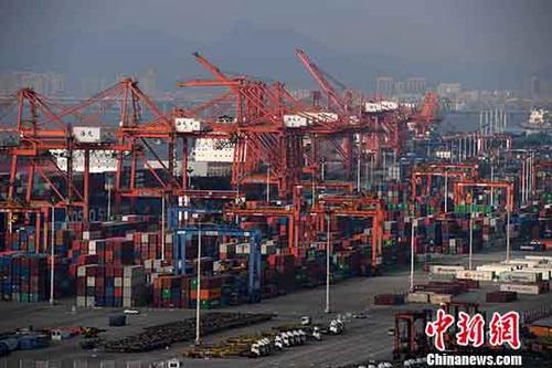 资料图:贸易港口。中新社记者 张斌 摄