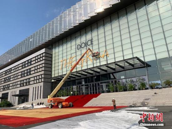 杜嘉班纳上海大秀秀场拆除中。图/康玉湛