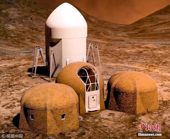"""科学家Jim Green表示,到火星旅行的第一人很可能已经存在于地球,而人类也绝对会在未来到达火星。电影《火星救援》中""""上火星种土豆""""的情节似乎离我们不远了。图为NASA举办火星住宅设计比赛入围作品图曝光。图片来源:视觉中国"""