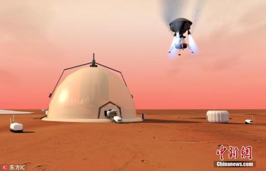 资料图:在一项新的研究中,来自瑞士洛桑联邦理工学院(EPFL)的科学家们设计了一个火星的自我维持研究基地,可以支持多年的载人任务。此项研究的多步骤计划包括将机器人送到火星建造基地,收集利用红色星球的自然资源,并最终派遣航天员在那里生活至少9个月。图片来源:东方IC 版权作品 请勿转载