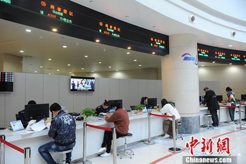 11月19日,多位市民在中国(浙江)自由贸易试验区行政服务中心窗口办理各项业务。<a target='_blank' href='http://www-chinanews-com.tekanae.com/'>中新社</a>记者 张茵 摄