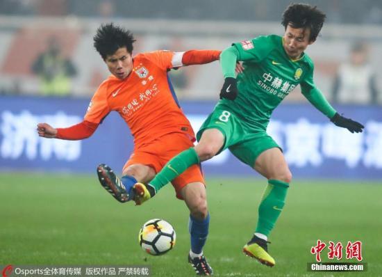资料图:2018年中国足协杯决赛,国安战胜鲁能夺冠。图片来源:Osports 全体育图片社
