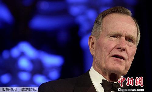 资料图片:老布什。