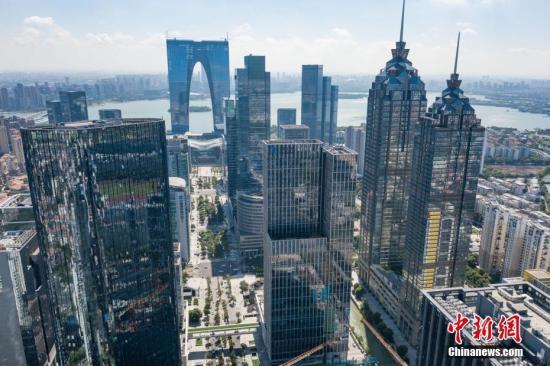 资料图:2018年航拍苏州工业园区。<a target='_blank' href='http://www-chinanews-com.vip0724.com/'>中新社</a>记者 泱波 摄