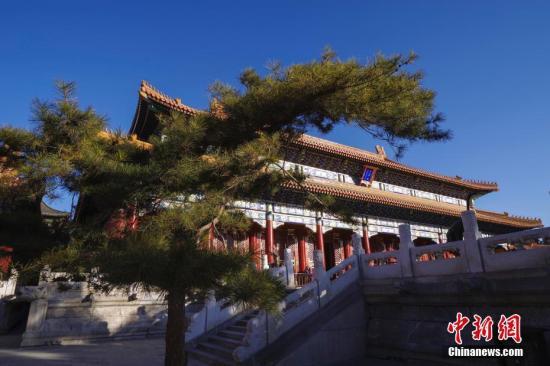 资料图:北京景山公园寿皇殿。中新社记者 贾天勇 摄