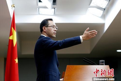 商务部新闻发言人高峰。中新社记者 李慧思 摄