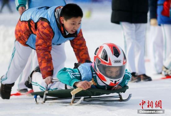 资料图:北京玉渊潭公园举办冰雪运动会。<a target='_blank' href='http://www.chinanews.com/'>中新社</a>记者 杜洋 摄
