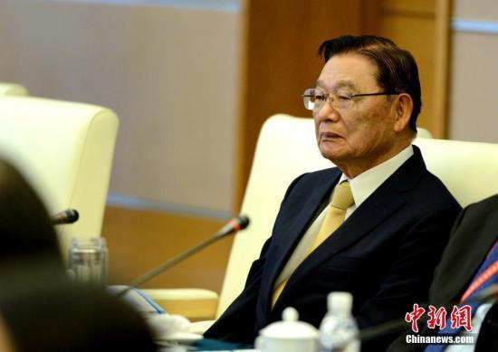 资料图:江丙坤。<a target='_blank' href='http://www-chinanews-com.dachengec.com/'>中新社</a>记者 王东明 摄