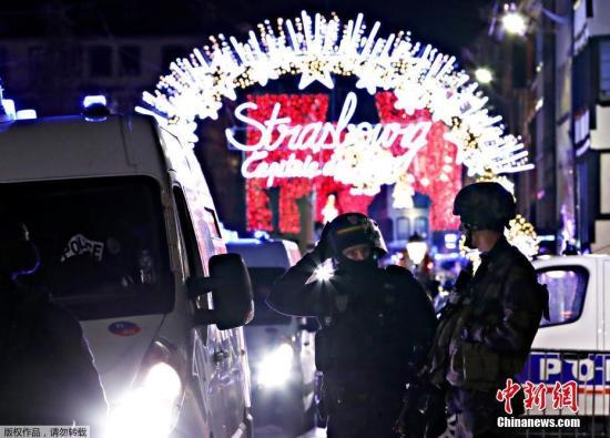 当地时间12月11日晚,法国东部城市斯特拉斯堡市(Strasbourg)一处圣诞集市附近发生枪击案。