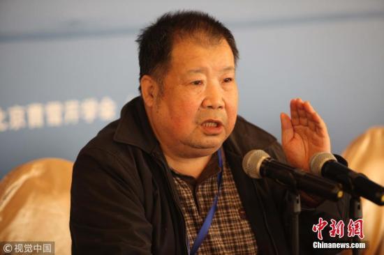 2019-01-21,河北廊坊,作家二月河在研讨会发言指出,要把红楼梦纳入到中国梦之中。张居生 摄 图片来源:视觉中国