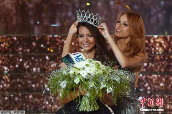 当地时间12月15日,2019法国小姐选美大赛在里尔落幕,塔希提美女Vaimalama Chaves摘得桂冠。