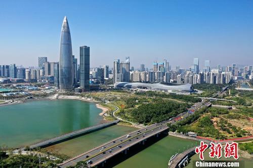 资料图:深圳湾公园与人才公园景观。<a target='_blank' href='http://www.chinanews.com/'>中新社</a>记者 陈文 摄