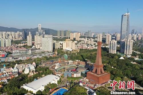 材料图:深圳天下之窗新貌。。a target='_blank' href='http://www.chinanews.com/'种孤社/a记者 陈文 摄