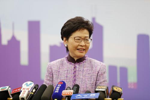 资料图:香港特别行政区行政长官林郑月娥。中新社记者 刘关关 摄
