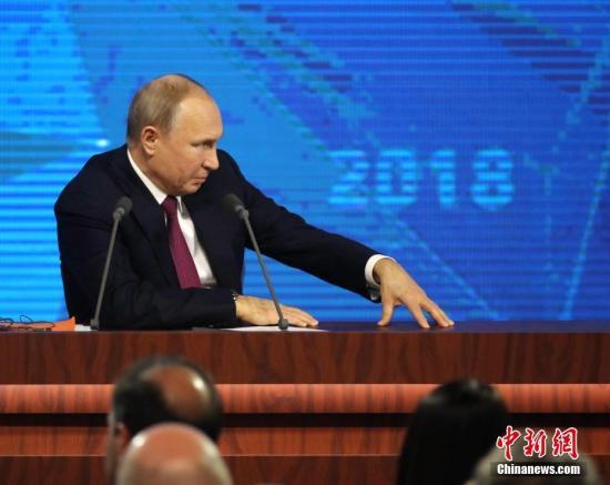 材料图:俄罗斯总统普京。a target='_blank' href='http://www.chinanews.com/'中新社/a记者 王建君 摄