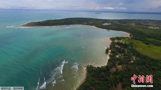 资料图片:印度尼西亚丹戎市丹戎海滨度假胜地。
