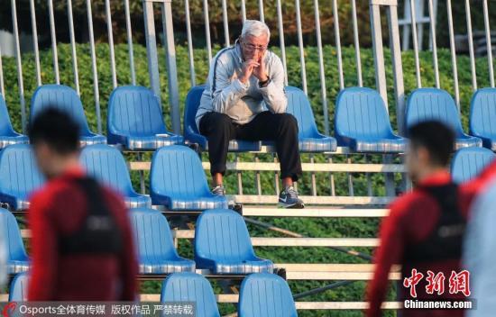 资料图:里皮领衔的新一期中国男足将在广州接受考验。 图片来源:Osports全体育图片社