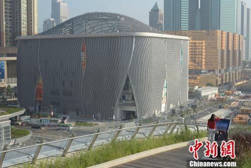 香港西九文化区东侧的戏曲中心(戏曲中心)在经过了10多年的筹建后,即将在12月30日举办开台日。<a target='_blank' href='http://www.chinanews.com/'>中新社</a>记者 李志华 摄