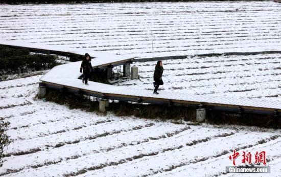 广西三江侗族自治县不息降雪。吴炼勋 摄