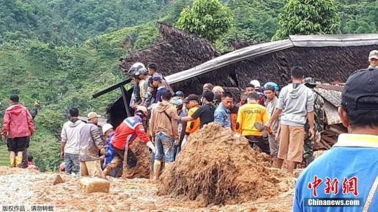资料图:印尼受灾地区。