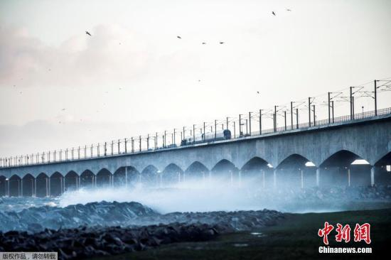 资料图:丹麦大贝尔特桥。