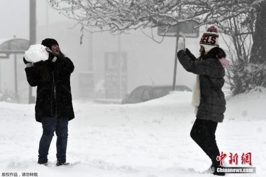 为合法打雪仗 美沃索市有望废除近60年禁令