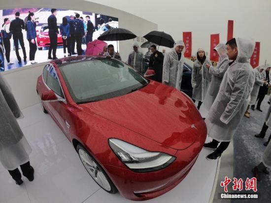 特斯拉Model3纯电动汽车或成为在华生产的首款车型。文/记者 张亨伟 郑莹莹 图/张亨伟