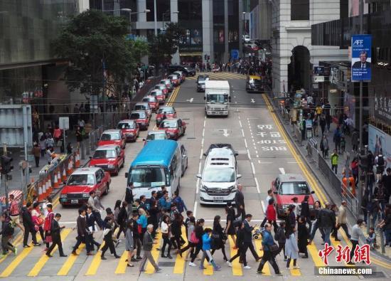 材料图?港挚一带门庭若市。a target='_blank' href='http://www.chinanews.com/'种孤社/a记者 洪少葵 摄