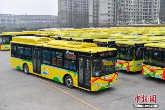 資料圖:新能源純電動公交車。<a target='_blank' href='http://www.815301.tw/'>中新社</a>記者 駱云飛 攝
