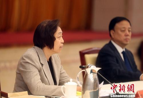 1月15日,统一战线学习贯彻习近平总书记在《告台湾同胞书》发表40周年纪念会上的重要讲话精神座谈会在北京召开,台盟中央主席苏辉出席座谈会并发言。中新社记者 张宇 摄