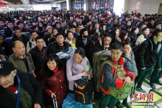 1月27日全国铁路预计发送旅客1047万人次