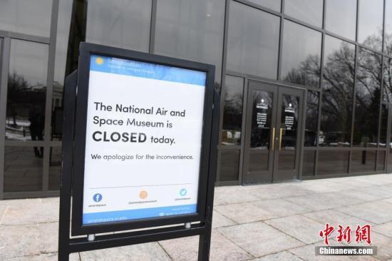 当地时间1月17日,位于华盛顿国家广场区域的多家博物馆,因美国政府停摆而持续处于关门状态。<a target='_blank' href='http://www.chinanews.com/'>中新社</a>记者 陈孟统 摄