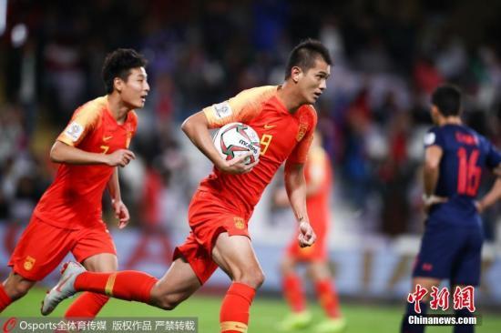 图为中国队肖智庆祝进球。图片来源:Osports全体育图片社