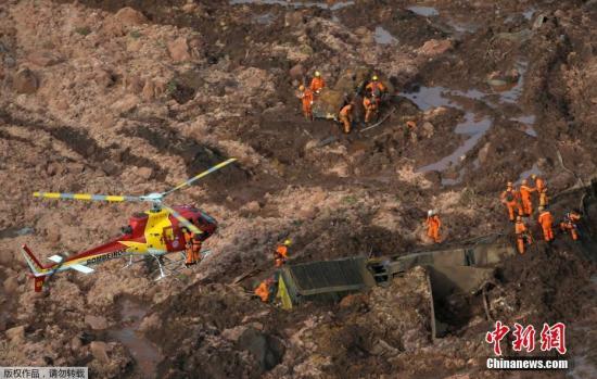 材料图@员天工夫2019年1月25日,巴西西北部米斯凶推斯州布鲁马迪纽市发作溃坝变乱。