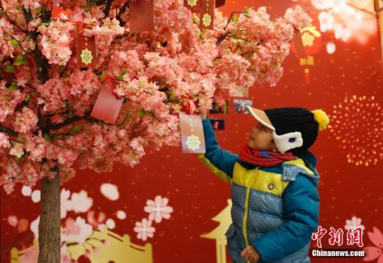 """图:北京玉渊潭""""年味""""主题展。<a target='_blank' href='http://www.chinanews.com/'>中新社</a>记者 杜洋 摄"""