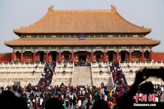 资料图:北京故宫博物院。中新社记者 富田 摄