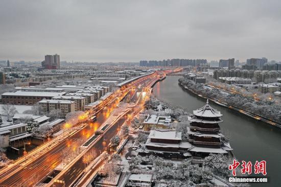 资料图:雪后的南京城。孙公甫 摄