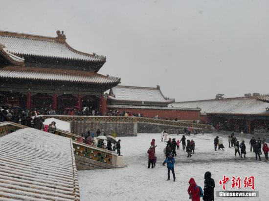 资料图:雪中故宫。<a target='_blank' href='http://sb138gw.nsb848.com/' >中新网</a>记者 上官云 摄
