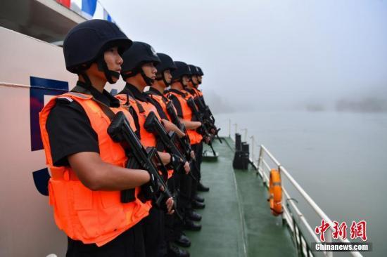 资料图:第79次中老缅泰湄公河联合巡逻执法行动。中新社记者 任东 摄